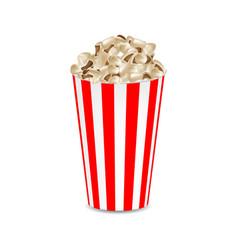 popcorn mockup realistic style vector image