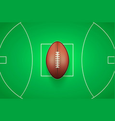 Poster template of australian rules football ball vector