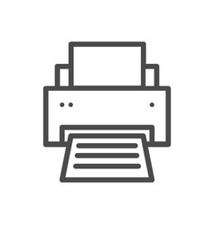 printer line icon isolated icon pixel vector image