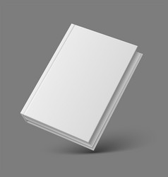 Realistic book or booklet 3d mockup closed diary vector