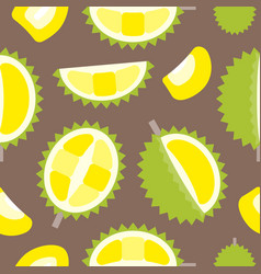 seamless pattern tropical fruit durian flat design vector image