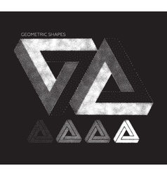 Set of geometric shapes vector image