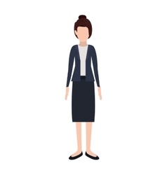 Silhouette executive woman with collected hair vector