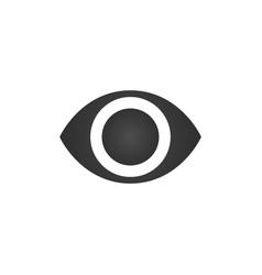 simple minimalistic eye icon isolated on white vector image