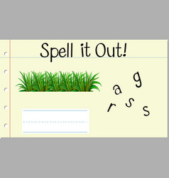 Spell it out grass vector