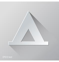 Tent Flat Icon Design vector image