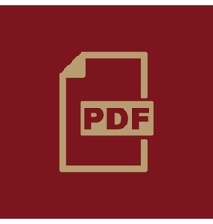 The PDF icon File format symbol Flat vector