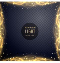 transparent golden sparkle light effect background vector image