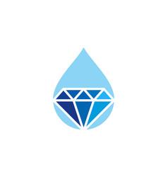 water diamond logo icon design vector image