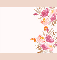Watercolor flower flowers decoration background vector