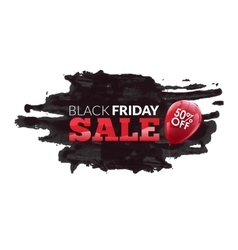 Watercolor label on the big black friday discounts vector