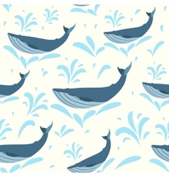 whale Swimming cute whales vector image