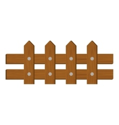 wooden fence icon image vector image