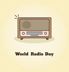 world radio day of radio vector image