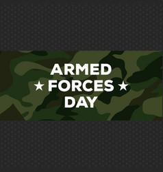 armed forces day vector image vector image
