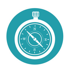 Compass guide isolated icon vector