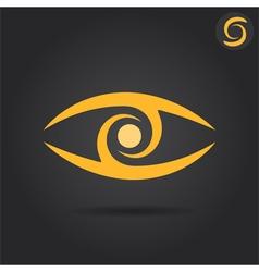 Eye logo sign vector image vector image