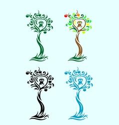 Love tree vector