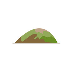 low hill icon in flat style vector image