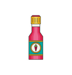 chili sauce flat vector image