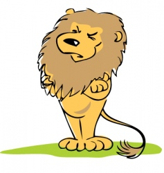 insulted lion vector image