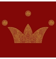 lace crown art royal symbol Imperial vector image vector image