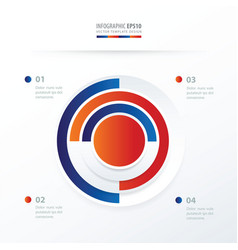 pie chart infographics blue red color vector image