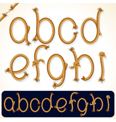 rope alphabet 1 vector image vector image