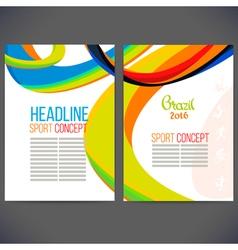 template design Brochure vector image vector image