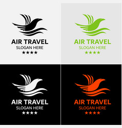 eagle travel logo template vector image vector image