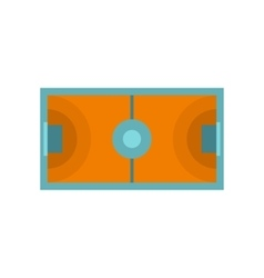 Futsal or indoor soccer field icon flat style vector image vector image