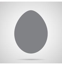 Gray Easter Egg Icon vector image