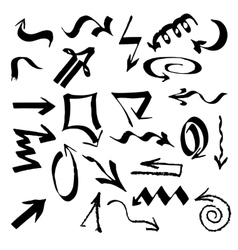 hand drawn arrows set on a white background vector image