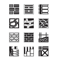 Various construction materials vector image