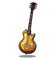 Cartoon electric guitar vector image vector image