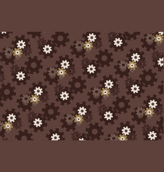gears pattern background steampunk style design vector image
