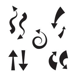 Icon arrow set vector