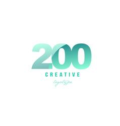 200 green pastel gradient number numeral digit vector