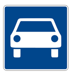 331a1 motorway road sign in germany vector
