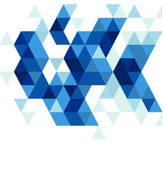 abstract blue triangle modern template vector image