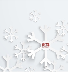 Abstract christmas snowflake paper 3d background vector