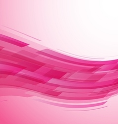 Abstract pink wave technology background vector image