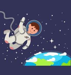 Astronaut float in space vector