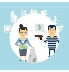 bank robbery vector image