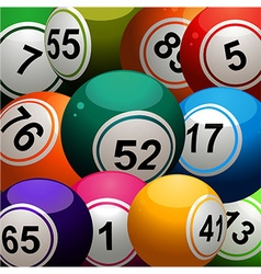Bingo balls close up background vector