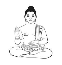 Buddha symbol hinduism buddhism vector