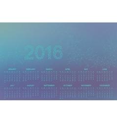 Calendar 2016 year Geometric background molecule vector image