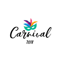 carnival poster banner with colorful party elemen vector image