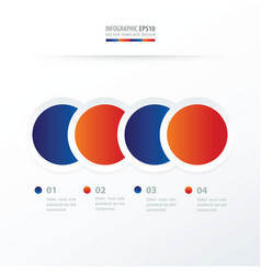 circle overlap infographic blue red color vector image