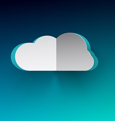 Cloud Cloud Paper Cut Cloud on Blue Backgr vector image